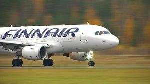 Finnairin Airbus A319-112 Lappeenrannassa