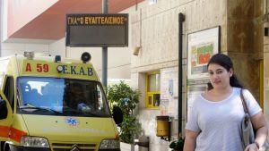 Katerina Tselentin kuukausiansiot ovat 360 euroa Ateenan Evangelismos-sairaalassa.