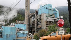 Luken paperitehdas Länsi-Virginiassa.