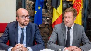 Belgian pääministeri Charles Michel ja Vallonian ministeri-presidentti Paul Magnette.