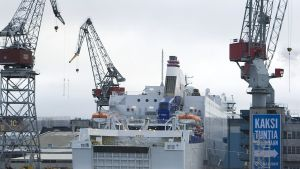 Helsingin sataman telakka.