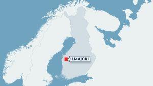 Suomen kartta johon on merkitty Ilmajoki.