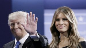 Donald ja Melanie Trump.