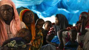 Somalinaisia ja lapsia.