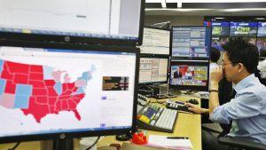 Porssimeklari seuraa Yhdysvaltojen presidentinvaalien ääntenlaskentaa