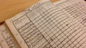 Antrean seurakunnan rippikirjan 1790-1799 aukeama.