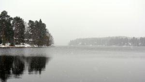 Mikkelin Pitkäjärvi olli vielä torstaina sula.