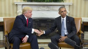 Donald Trump ja Barack Obama