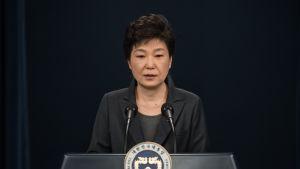 Etelä-Korean kiistelty presidentti Park Geun-hye