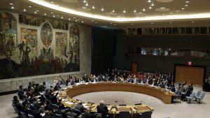 YK:n turvallisuusneuvoston istunto syyskuussa 2016.