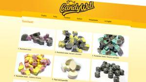 Kuvakaappaus CandyWellin verkkosivuilta.