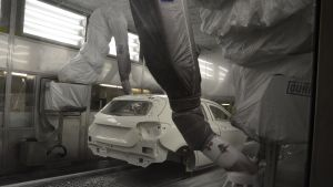 Uudenkaupungin autotehtaan maalaamo on hiljattain uusittu kokonaan.