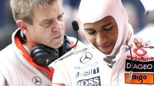 Aki Hintsa ja Lewis Hamilton