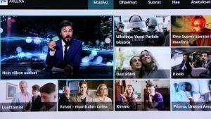 Älytelevision Yle Areena -sovellus.