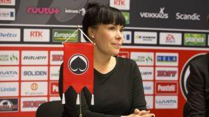 HC Ässät Pori Oy:n toimitusjohtaja Eeva Perttula - kuva Ässien tiedotteesta, joka koski Perttulan nimittämistä tehtävään.