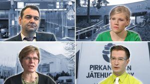 Kuvakooste, jossa Atanas Aleksovski, Sofia Vikman, Riitta Ollila ja Oras Tynkkynen.