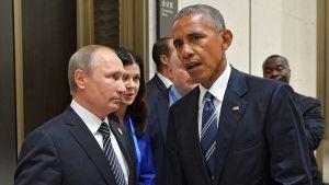Presidentit Vladimir Putin ja Barack Obama