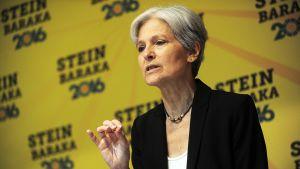 Yhdysvaltain vihreän puolueen presidenttiehdokas Jill Stein.