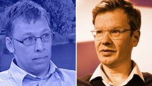Professorit Otto Toivanen ja Matti Liski.