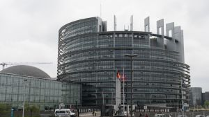 Euroopan parlamentin rakennus Strasbourgissa Ranskassa.