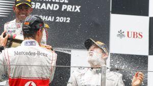 Nico Rosbergin uran ensimmäinen voitto.