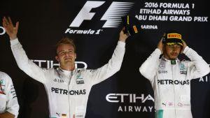 Mercedes-kaksikko Nico Rosberg ja Lewis Hamilton.