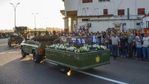 Fidel Castro hautajaiset.