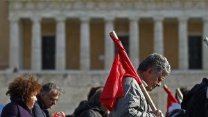 Mielenosoitus Ateenassa