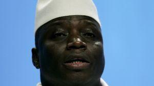Gambian presidentin Yahya Jammehin portretti