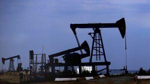 Öljypumppuja Bakussa Azerbaidzanissa