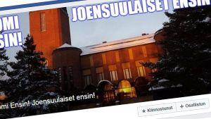 Suomi ensin -liikkeen tapahtumatieto Facebookissa.