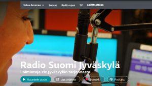 Yle Jyväskylän Areena -sivun kansi.