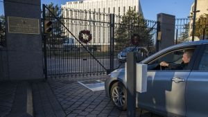 Venäjän suurlähetystön portti Washintonissa.