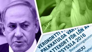 Benjamin Netanjahu, influenssarokotus ja verokortti