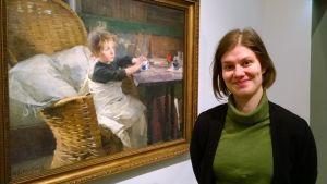 Museolehtori Elli Liipon mukaan sekä Schjerfbeckin näyttely että siihen yhdistetty viiniopastus ovat osoittautuneet suosituiksi.