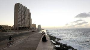 Rantaviivaa Havannasta, Kuubasta 12.1. 2017.