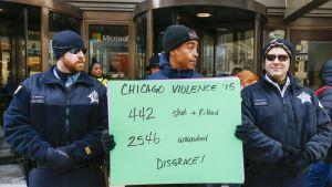 Chicagon poliisin vastainen mielenosoitus