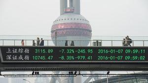 Kiina Shanghai.