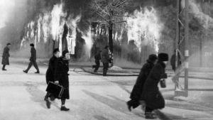 Talvisodan pommituksia Tampereen Hämeenkadulla
