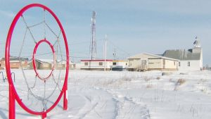 Luminen maisema Kanadan Attawapiskatissa.