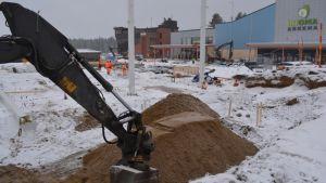 Mikkelin monitoimihalli Saimaa Stadiumi rakennustyömaa