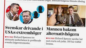 Kuvakaappaus Dagens Nyheterin etusivulta.