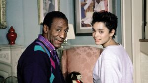 Bill Cosby ja Lisa Bonet The Cosby showsta.