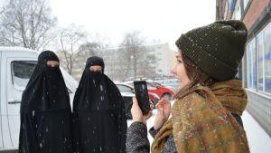 Mari Jäntti, Emma Hinkula ja Sofia Hänninen