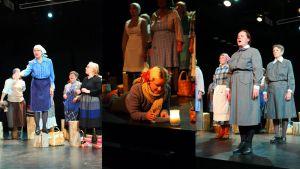 Rakkaudentunnustus Isänmaalle näytelmän harjoitukset