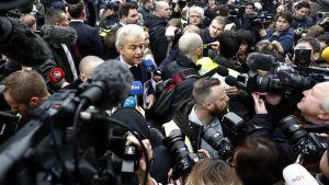 Geert Wilders (PVV) Spijkenissessä 18. helmikuuta 2017.