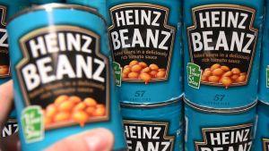 Kraft Heinzin papupurkkeja Lontoossa 2015.