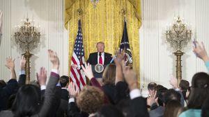 Trump lehdistötilaisuudessa 17.02.2017
