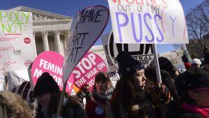 Aborttioikeuden puolustajia Washingtonissa tammikuussa 2014.