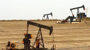 Öljyä pumpataan Oklahoman alueella.